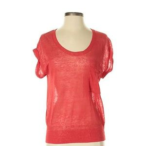 Rachel Rachel Roy Coral Cap Sleeve Thin Sweater XS